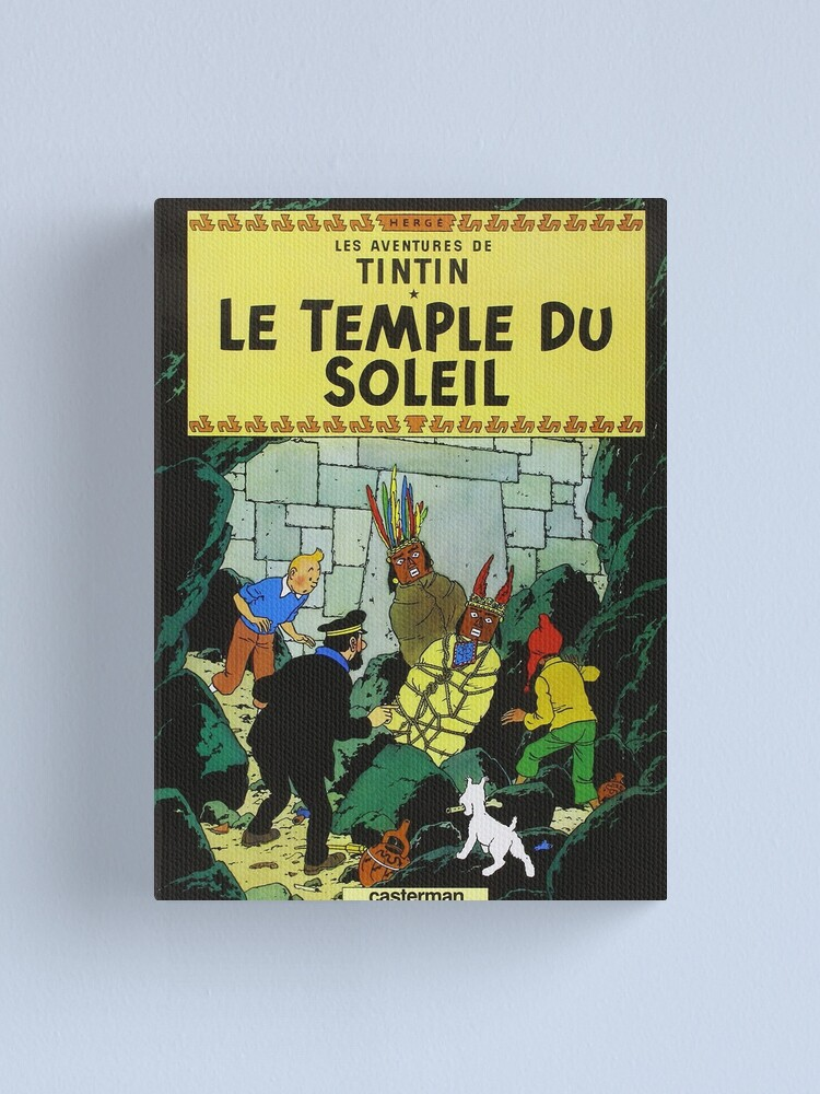 Tintin Le Temple du Soleil Stretched Canvas Wall Art Poster Print
