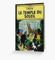 Tintin Temple du Soleil / 327011 Greeting Card