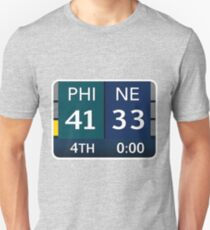 EAGLES SUPER BOWL CHAMPS (Scoreboard- 41-33) Unisex T-Shirt