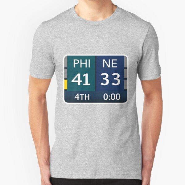 EAGLES SUPER BOWL CHAMPS (Scoreboard- 41-33) Slim Fit T-Shirt