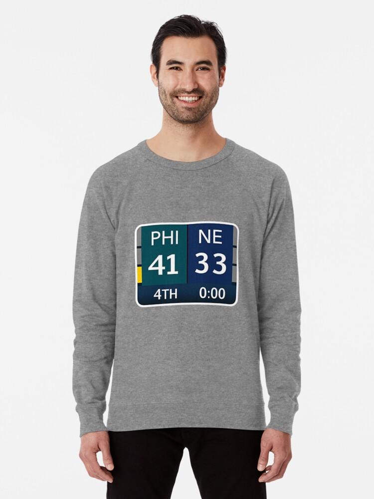 huge selection of 02c1c 7a118 'EAGLES SUPER BOWL CHAMPS (Scoreboard- 41-33)' Lightweight Sweatshirt by  tjschwartz31