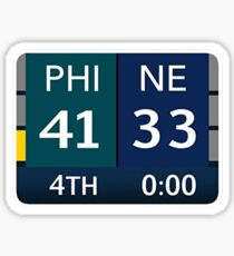 EAGLES SUPER BOWL CHAMPS (Scoreboard- 41-33) Sticker