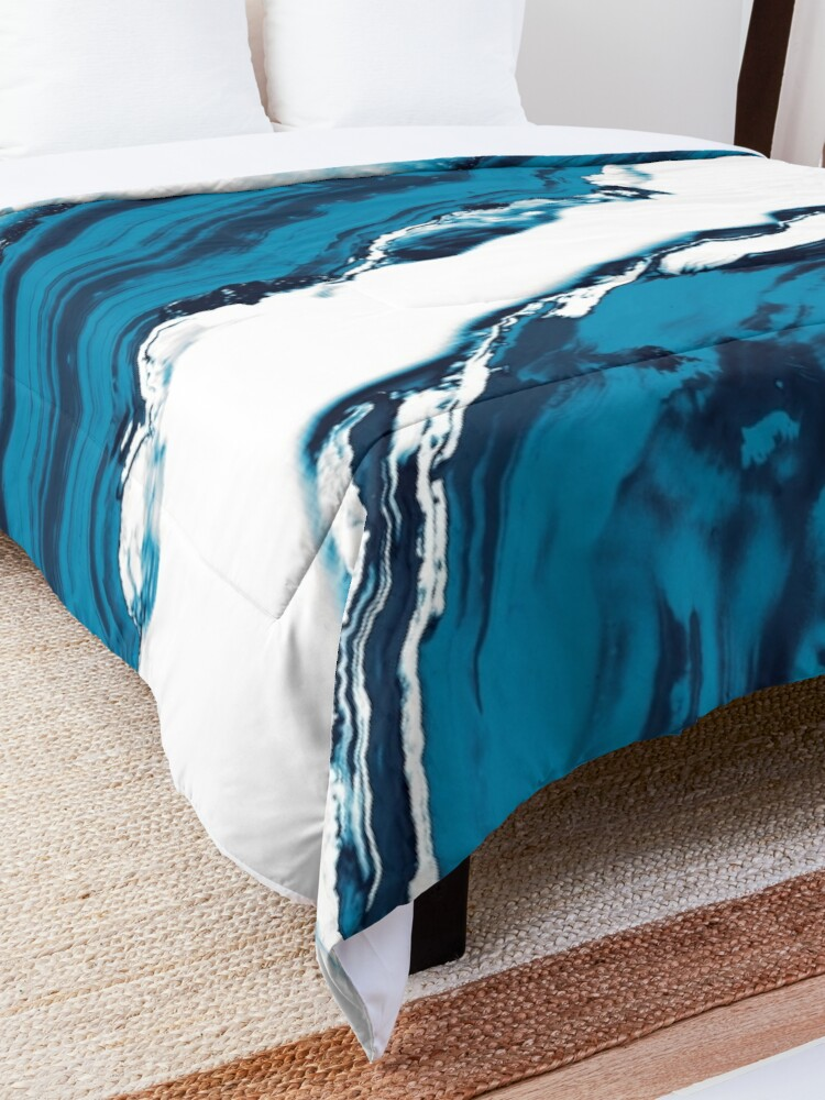 Alternate view of Blue Agate #2 #gem #decor #art  Comforter