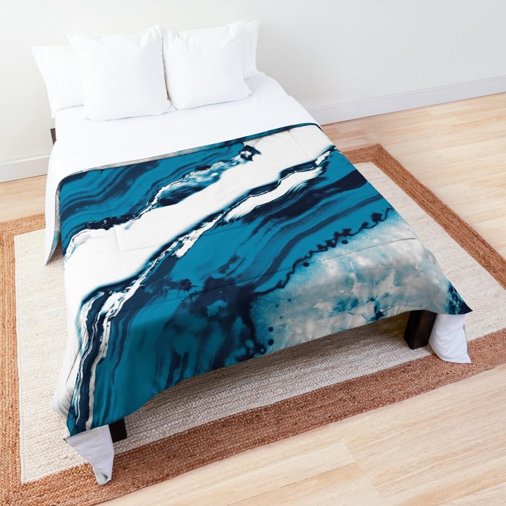Blue Agate #2 #gem #decor #art  Comforter
