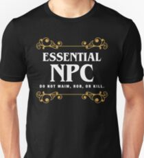 Essential NPC Non-Playable Character Gaming Slim Fit T-Shirt