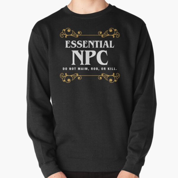 Essential NPC Non-Playable Character Gaming Pullover