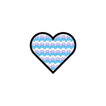 hearts chevron blue, purple, white by MiaNotMaya