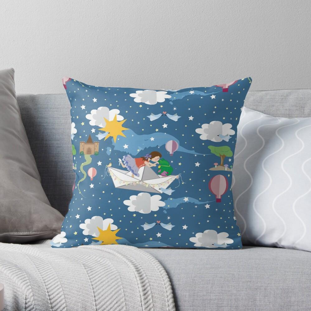 Paper Dreams Throw Pillow