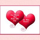 Two Hearts Valentine's  by Ilunia Felczer
