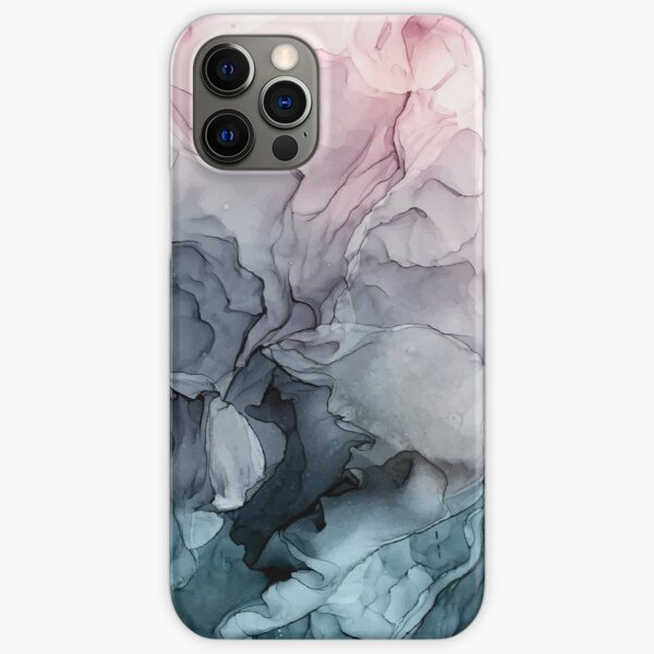 Blush and Payne's Grey Flowing Abstract Painting iPhone Snap Case