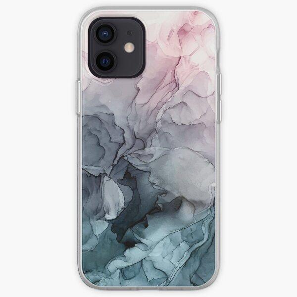 Erröten und Paynes graues fließendes abstraktes Gemälde iPhone Flexible Hülle