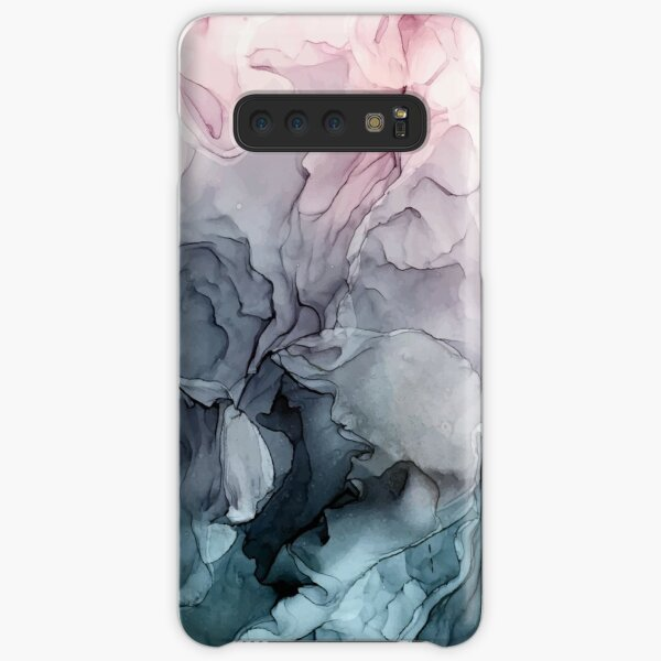 Blush and Payne's Grey Flowing Abstract Painting Samsung Galaxy Snap Case