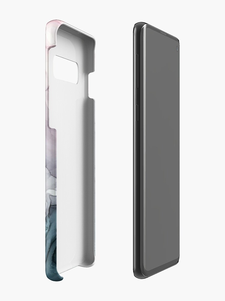 Alternate view of Blush and Payne's Grey Flowing Abstract Painting Cases & Skins for Samsung Galaxy