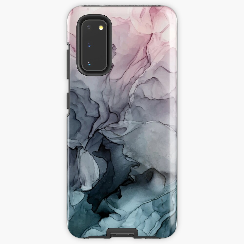 Blush and Payne's Grey Flowing Abstract Painting Case & Skin for Samsung Galaxy
