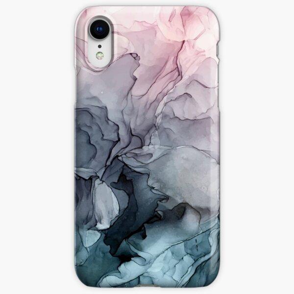 Blush y la pintura abstracta que fluye gris de Payne Funda rígida para iPhone