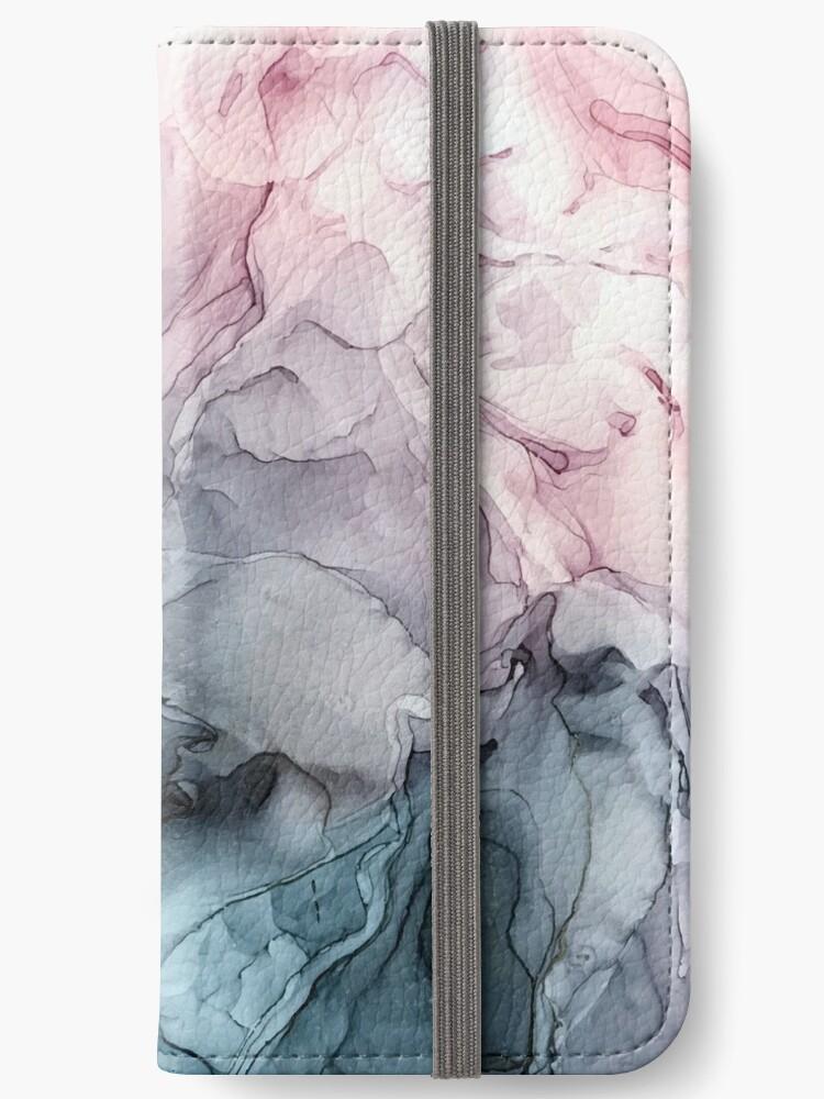 Blush und Paynes graue fließende abstrakte Malerei von Elizabeth  Karlson
