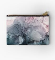 Blush und Paynes graue fließende abstrakte Malerei Studio Clutch