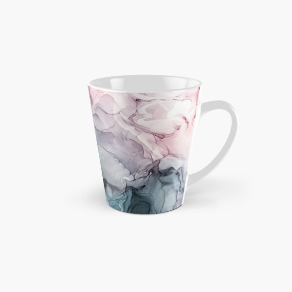 Blush and Payne's Grey Flowing Abstract Painting Tall Mug