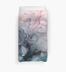 Funda nórdica Blush y Payne's Gray Flowing Abstract Painting