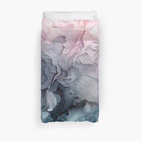 Blush y la pintura abstracta que fluye gris de Payne Funda nórdica