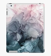 Blush and Payne's Grey Flowing Abstract Painting iPad Case/Skin