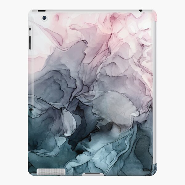Blush and Payne's Grey Flowing Abstract Painting iPad Snap Case