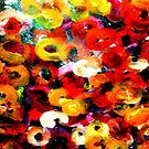 Aboriginal Art - Floral - Finger Painting  by cjcphotography