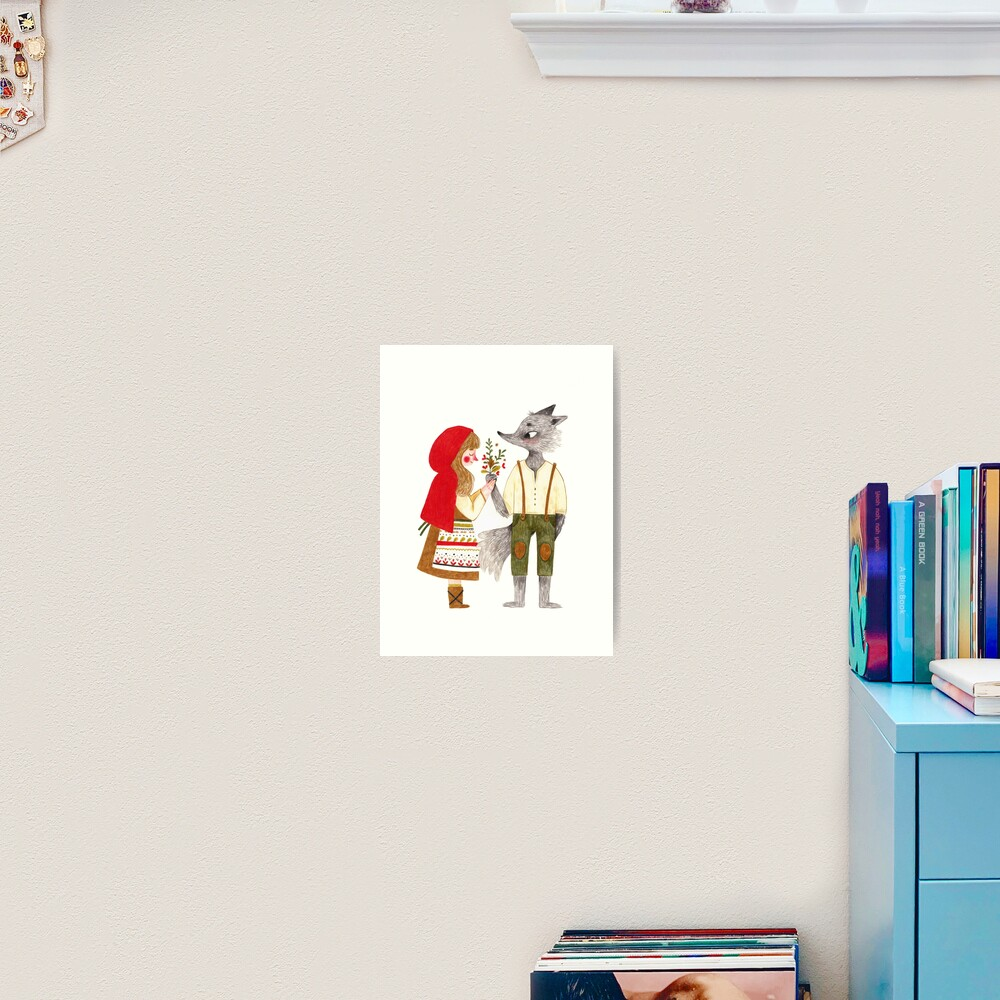 Red and the Wolf Art Print