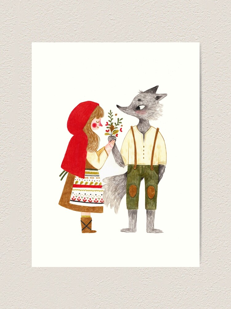 Alternate view of Red and the Wolf Art Print