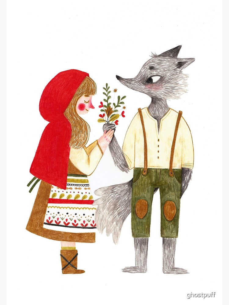 Red and the Wolf by ghostpuff