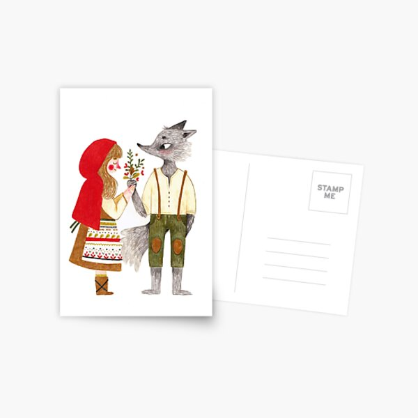 Red and the Wolf Postcard
