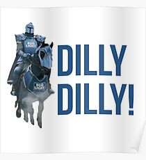 Bud light commercial posters redbubble dilly dilly the bud knight superbowl 2018 poster aloadofball Choice Image