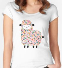 Bubble Sheep Women's Fitted Scoop T-Shirt