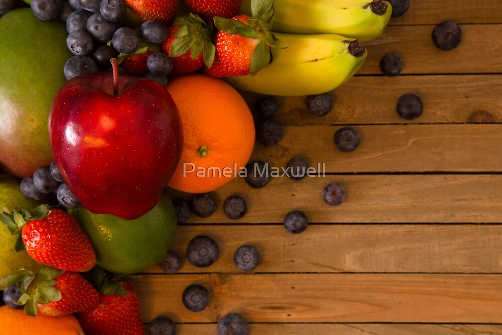 Collage of Fruits by Pamela Maxwell