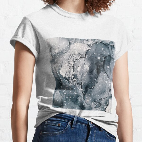 Icy Payne's Grey Abstract Bubble / Snow Painting Classic T-Shirt