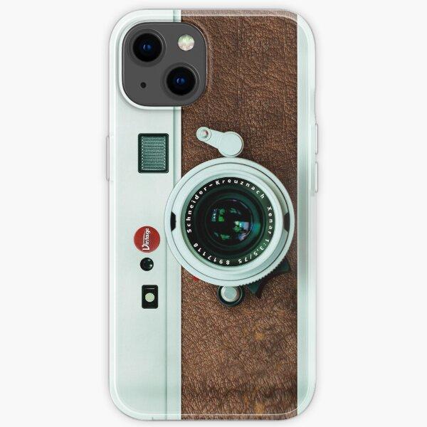 Klassische Retro Old Vintage braun Leder Kamera iPhone Flexible Hülle