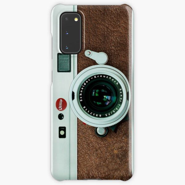 Classic Retro Old Vintage brown leather Camera Samsung Galaxy Snap Case