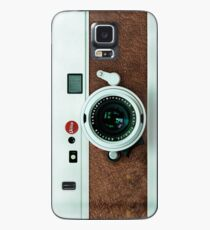 Classic Retro Old Vintage brown leather Camera Case/Skin for Samsung Galaxy