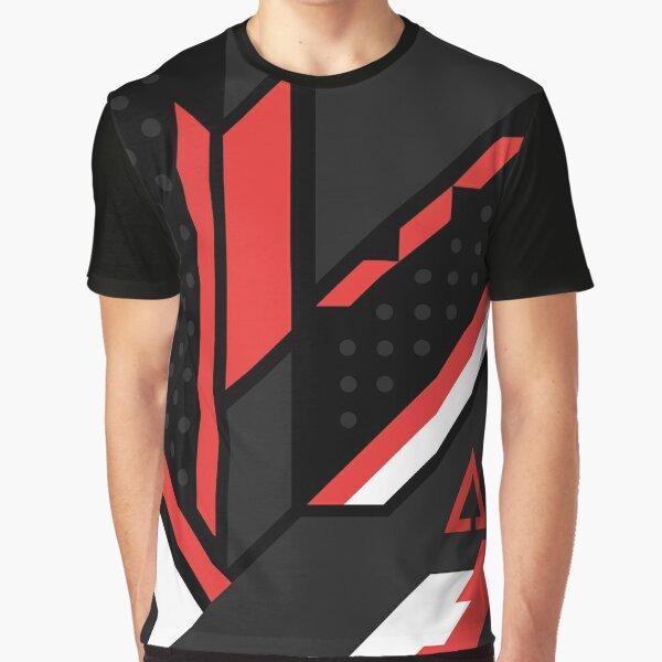 CSGO | Black, red & white Graphic T-Shirt