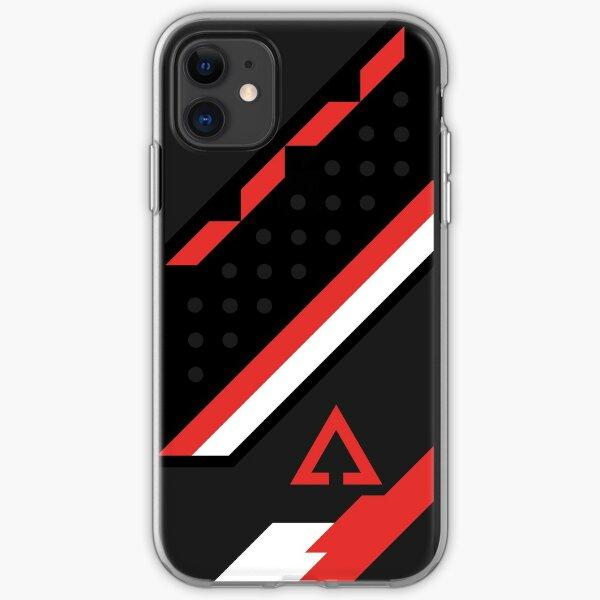 CSGO   Black, red & white iPhone Soft Case