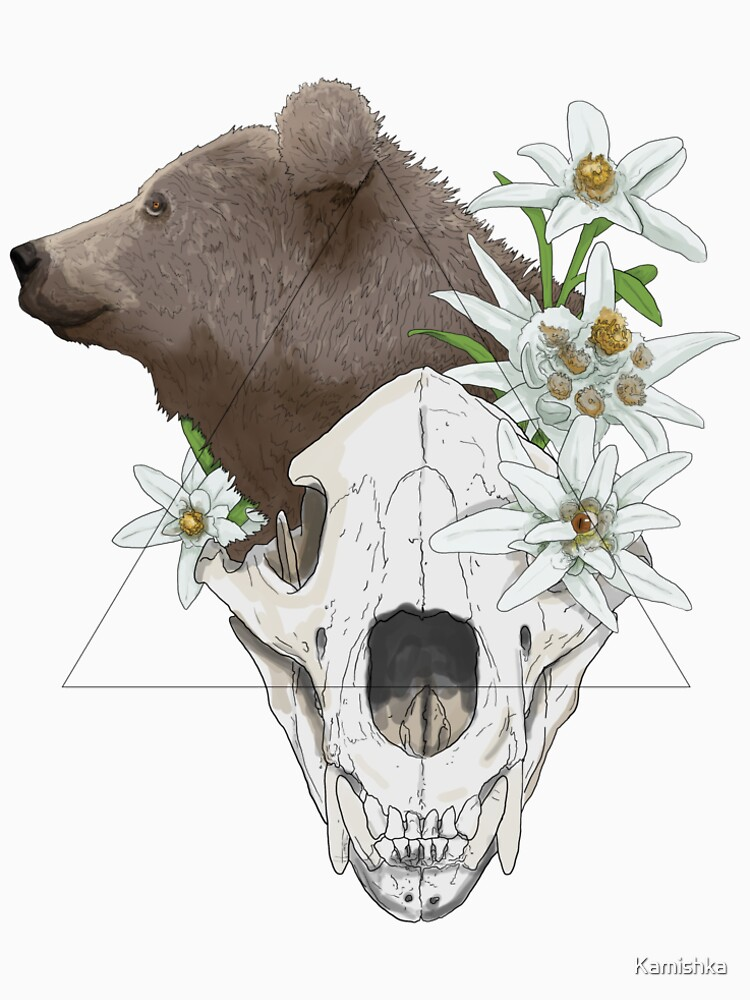 Skull - The bear by Kamishka