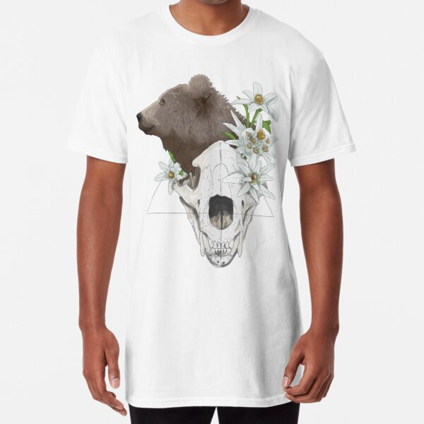 Skull - The bear T-shirt long