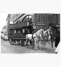 A Horse Drawn Bus - © Doc Braham; All Rights Reserved. Poster