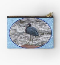 Little Blue Heron at the River Studio Pouch