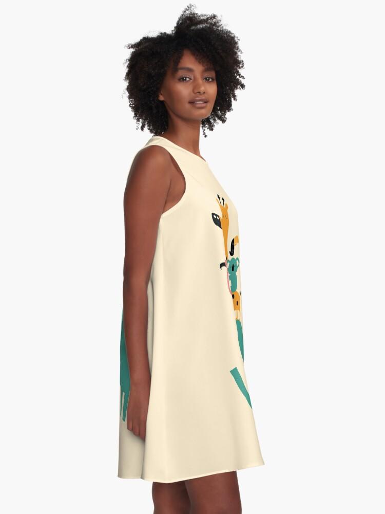 Alternative Ansicht von Weitergehen A-Linien Kleid