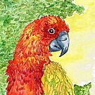 Pretty Colorful Parrot by ButtercupSaiyan