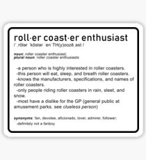 Roller Coaster Enthusiast Sticker
