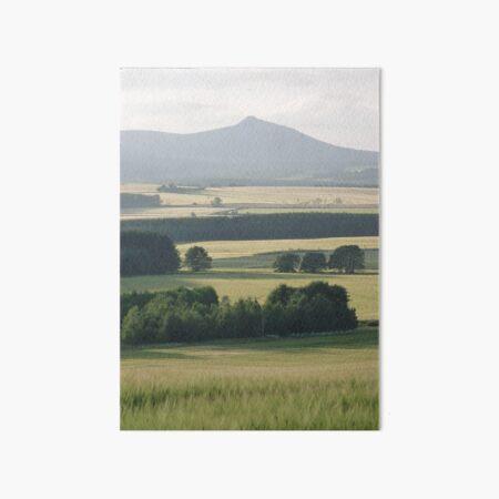 Bennachie and Barley 2 Art Board Print