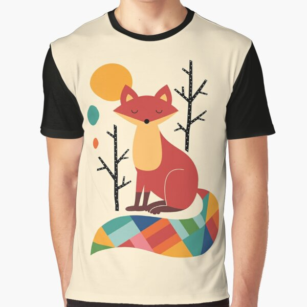 Rainbow Fox Graphic T-Shirt