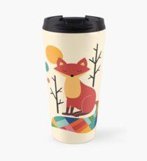 Rainbow Fox Travel Mug